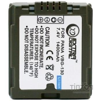 Акумулятор до фото/відео EXTRADIGITAL Panasonic VW-VBG130 Chip (BDP2587)