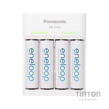 Зарядний пристрій для акумуляторів PANASONIC Basic USB Charger+eneloop 4AA 1900 mAh (K-KJ61MCC40USB)